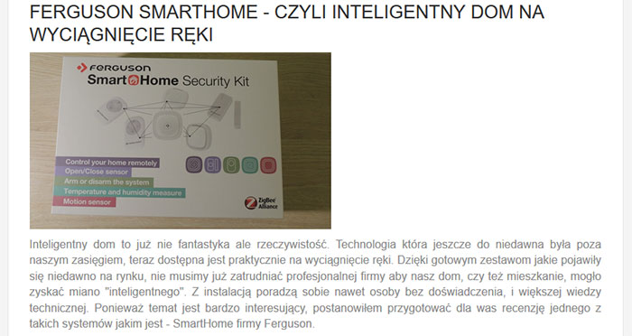 Recenzja SmartHome Security Kit